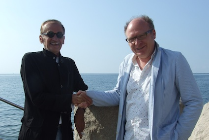 Hermann Vaske and creative pioneer Dragan Sakan in Piran, Slovenia.