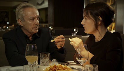 Udo Kier and filmmaker Nicolette Krebitz in Berlin's Grill Royal